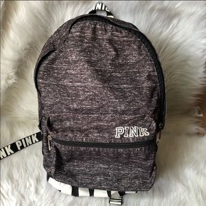 PINK grey and pink backpack